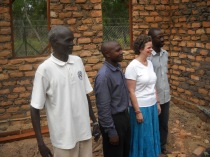 Founder of the school, Jennifer Ernst with headmasters Cleous and Anthony and engineer Steven